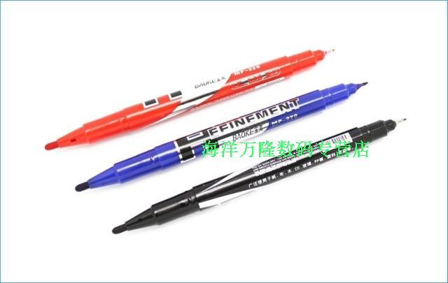 Baoke mp-220 small double marker oily hook line pen cd pen does not fade can write on the glass