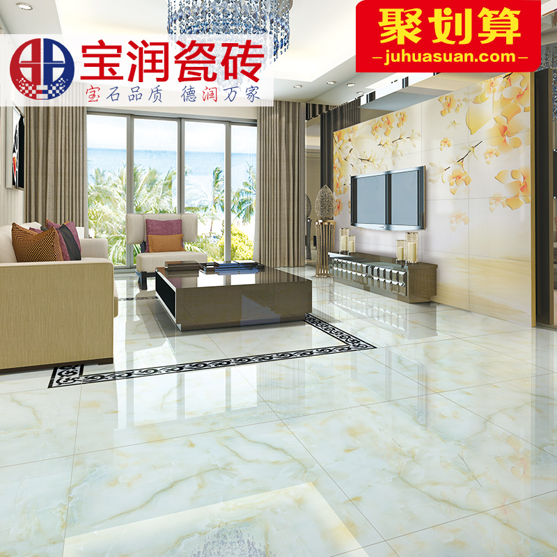 Baorun imitation marble full cast glaze tile floor tile x of chinese background living room wall and floor tiles