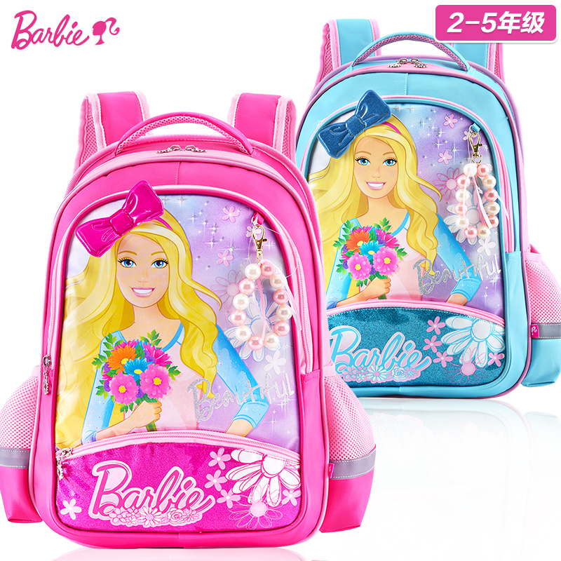 Barbie bag schoolbag girls in primary school third grade for two to five 3 girls princess backpack shoulder bag for children under the age of economic affairs