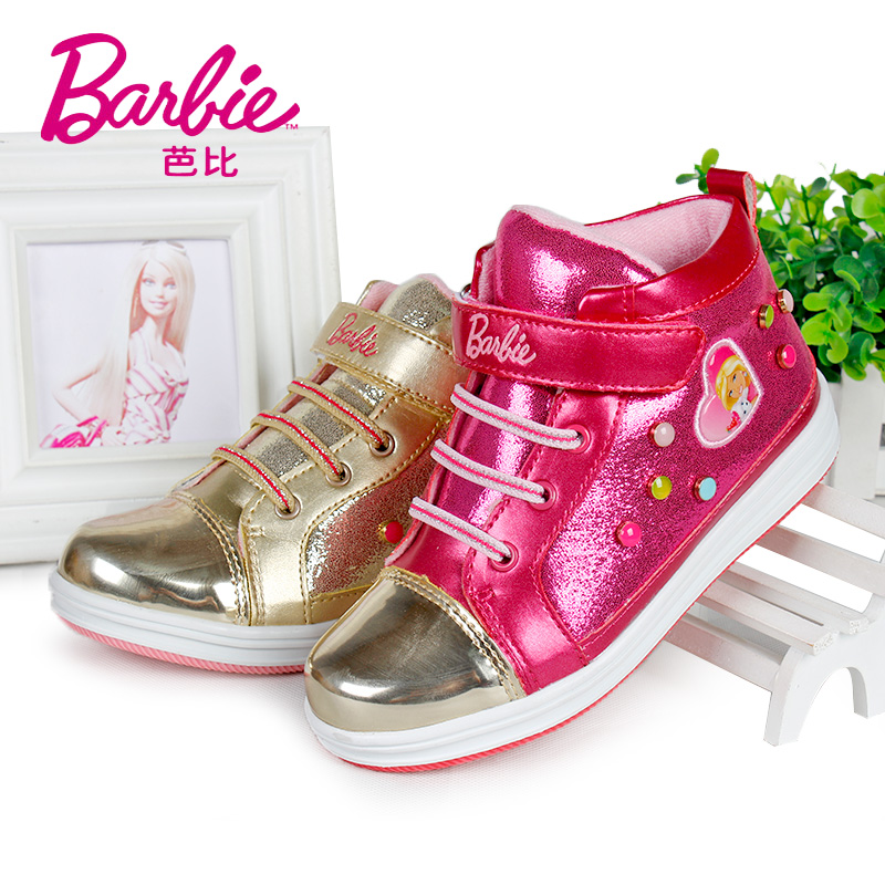 Barbie barbie girls sports shoes 2016 winter shiny new diamond stitching children's shoes in shoes