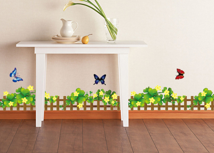 Baseboard wall stickers flower wall stickers backdrop stickers wall stickers fence railing klimts 926