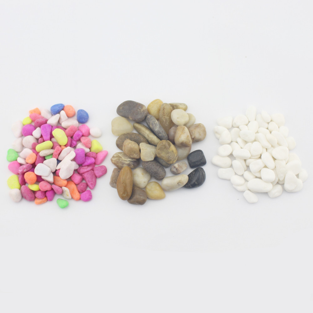 Basin surface and decorative pots promotional supplies white pebbles pebble stone colored stones multicolored sand 300g loading