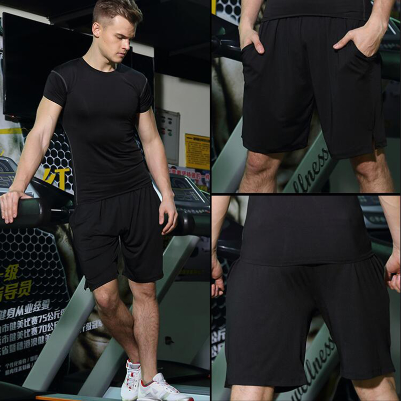 Basketball jogging pants male summer thin section breathable wicking basketball clothes sports training shorts five pants loose shorts