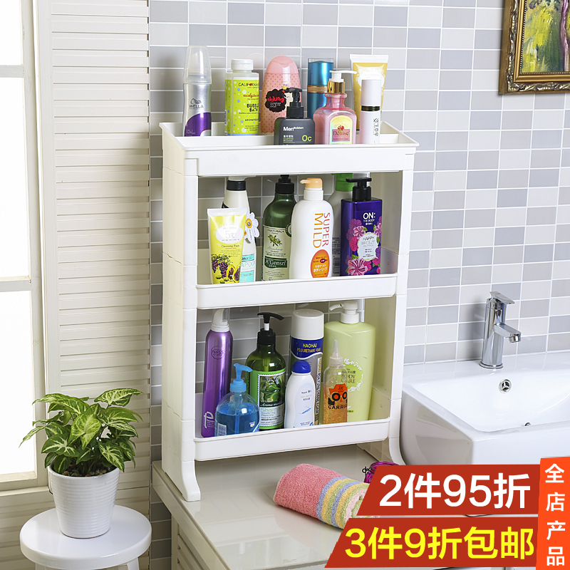 Bathroom shelf bathroom shelving crevice cracks refrigerator shelf kitchen floor finishing rack storage rack thick seam between