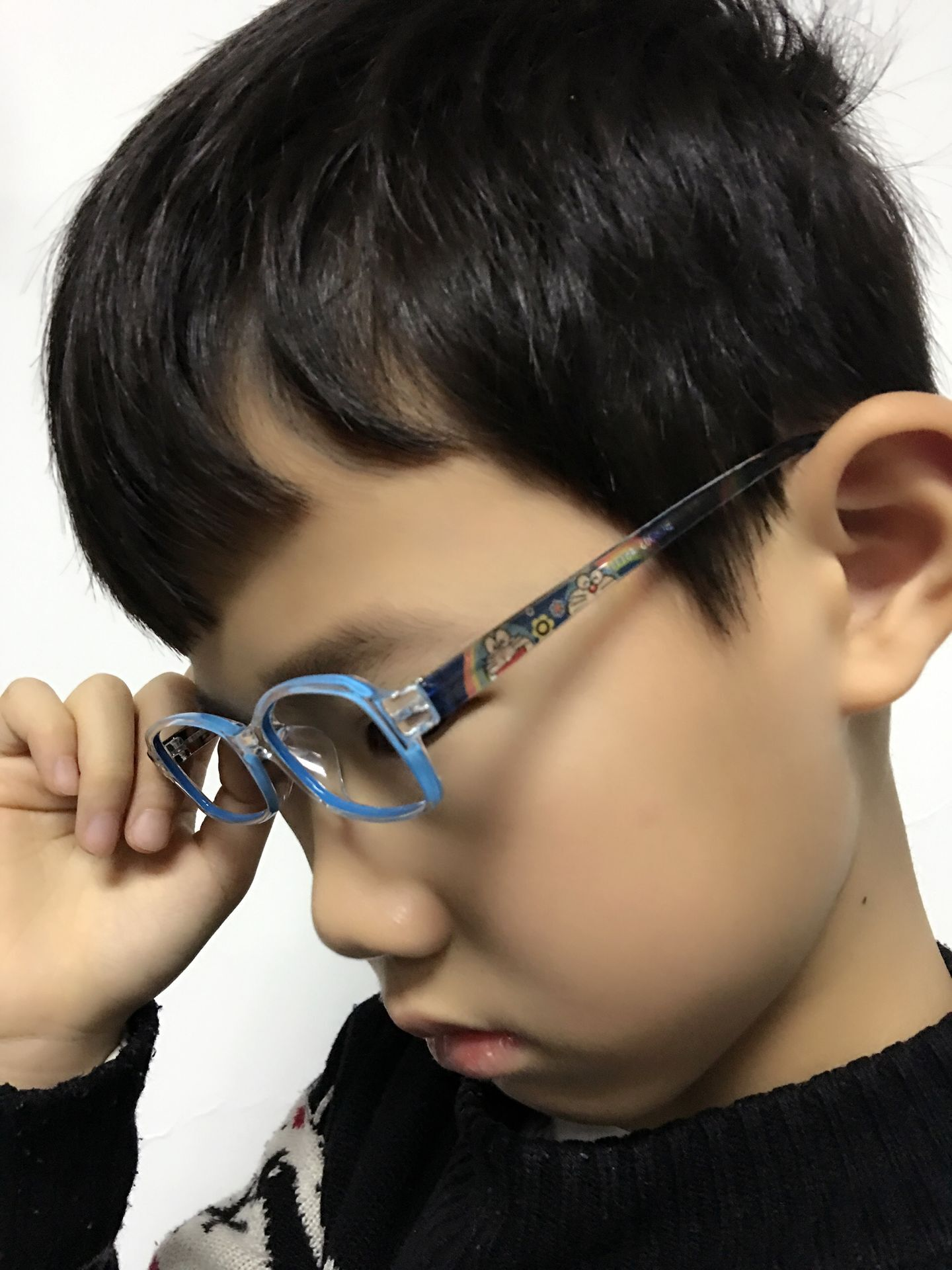 Bcfa korea lightweight men children schoolgirl cartoon square frame glasses myopia hyperopia amblyopia glasses new