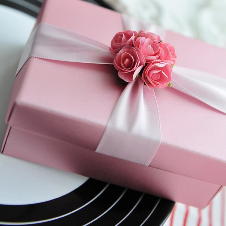 Bead wedding-pink candy box candy box creative wedding supplies candy bags wedding supplies wedding candy box candy box