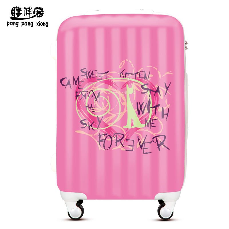 Bear fat fashion letters printed abs board chassis suitcase trolley case suitcase male female drag me travel YQY120