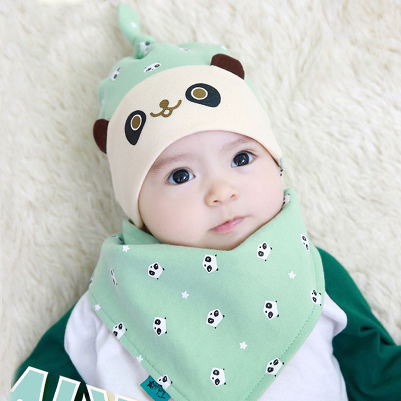 Bear flower hat baby months for boys and girls autumn paragraph newborn baby tire cap cotton hat hedging shipping