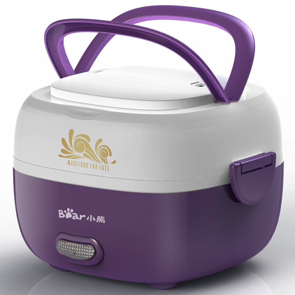Bear/winnie the dfh-s2012 stainless steel double electric cooking lunch boxes electric heating lunch box lunch box 2 layers mini electric rice cooker