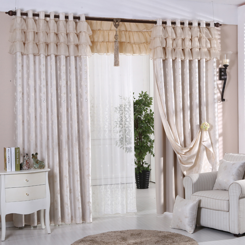Beauty thick linen curtains bedroom living room windows and blackout curtains custom solid color double jacquard curtains finished