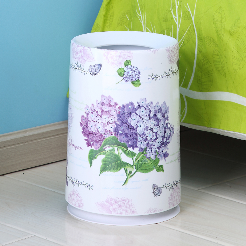 Bedroom living room kitchen bathroom household trash bins without cover european trumpet creative fashion dustbin toilet hotel