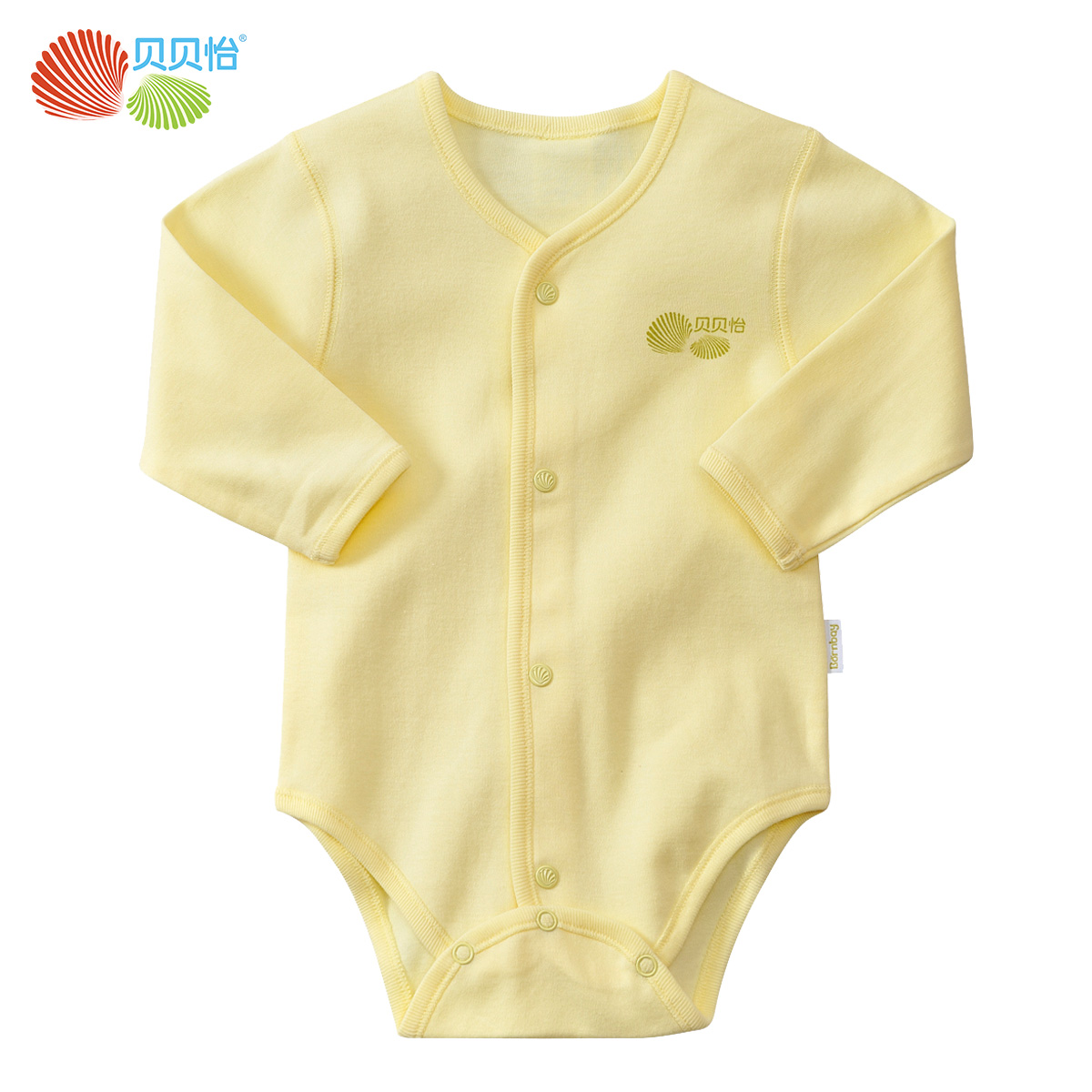 Beibei yi baby clothes for men and women long sleeve cotton baby triangle romper newborn baby coveralls climbing clothes BB711