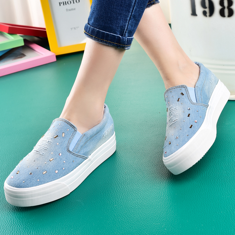 Beier bottomed loafers free shipping new spring shoes korean lazy shoes canvas shoes lazy pedal shoes casual shoes