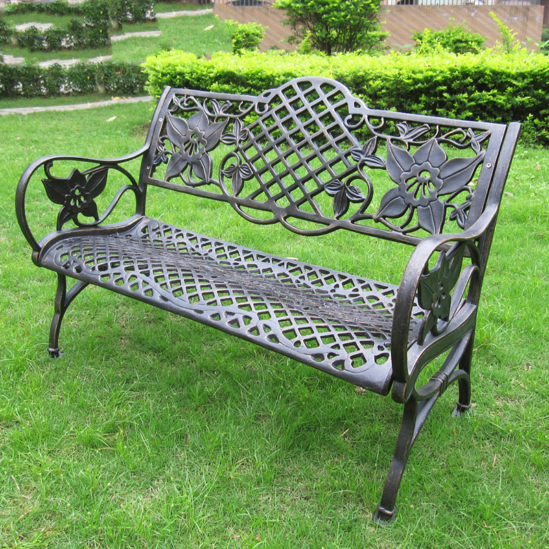 [Beijing] good rest chair wooden chair leisure park bench cast aluminum outdoor furniture chair b68