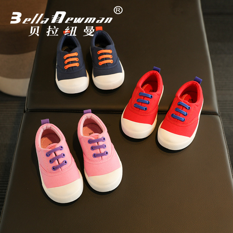 Bella newman children canvas shoes shoes shoes spring and autumn male and female children's shoes in the white shoes korean shoes tide