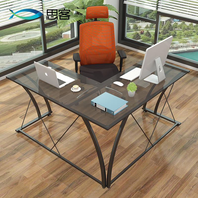 Best off the corner office desk glass computer desk corner desk minimalist modern desk desktop double new