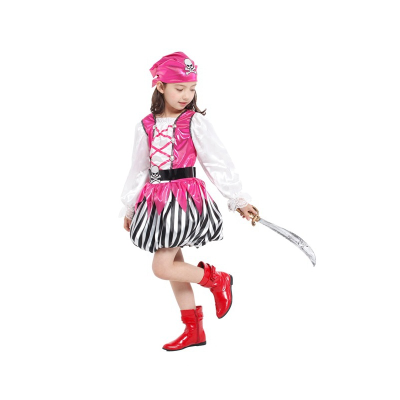 Beth bear co splay pretty pink pirate halloween costume for children kindergarten clothes suit costumes