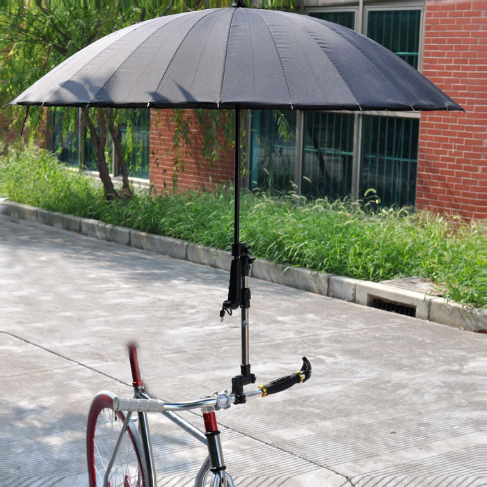 Bicycle umbrella stand umbrella carriage car sun shade thicker ordinary bicycle equipment necessary rain