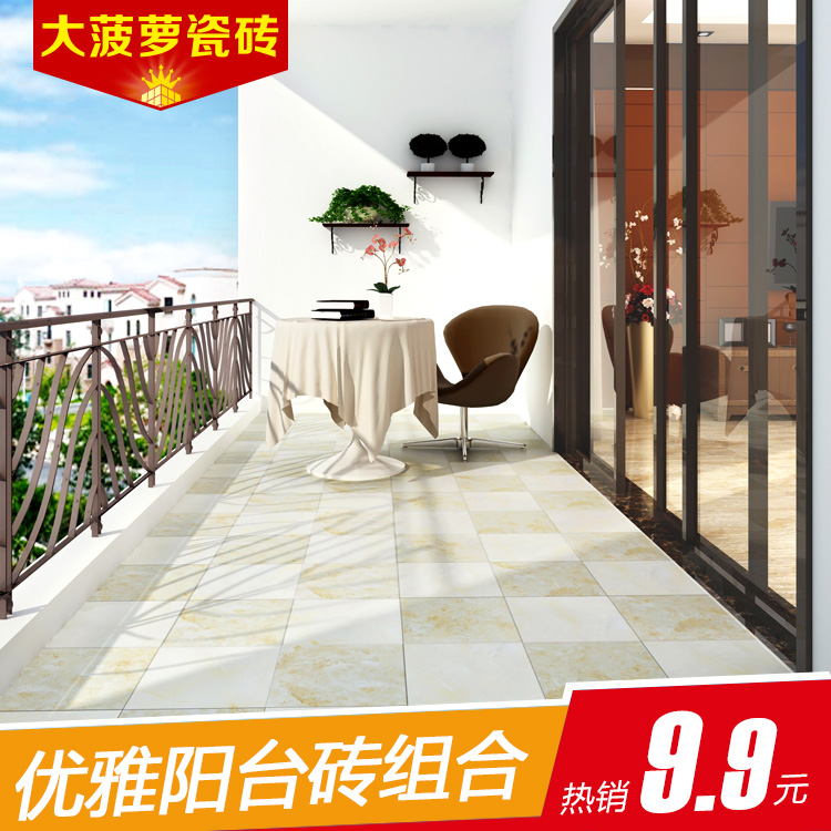 Big pineapple brick wall tile balcony roof putie design tile foshan antique brick tile balcony