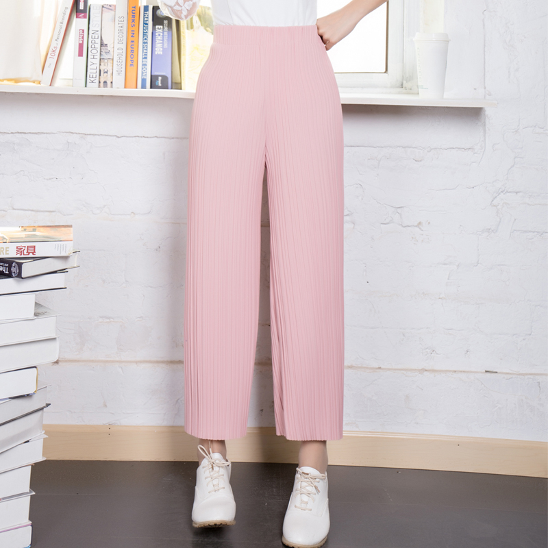 Bigfoot pants wide leg pants pantyhose spring and autumn korean loose big yards straight pants high waist wide leg casual pants spring and summer