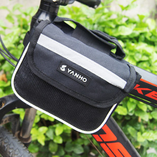 Bike bag saddle bag on the tube bag bike bag with cell phone pocket before riding bicycle equipment accessories