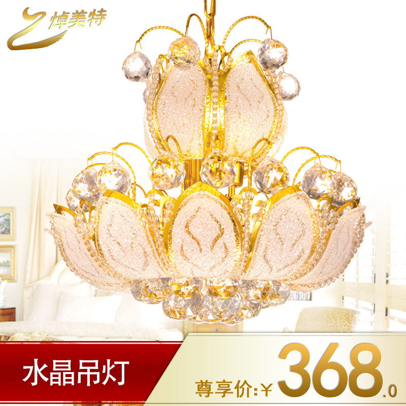 Billy us special golden chandelier crystal lamp pendant lamp crystal lamp european modern living room chandelier bedroom chandelier