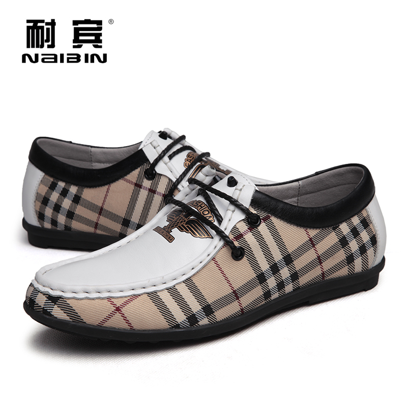 Bin resistant end of summer sports and leisure shoes canvas shoes breathable leather boat shoes spring personality mix and match