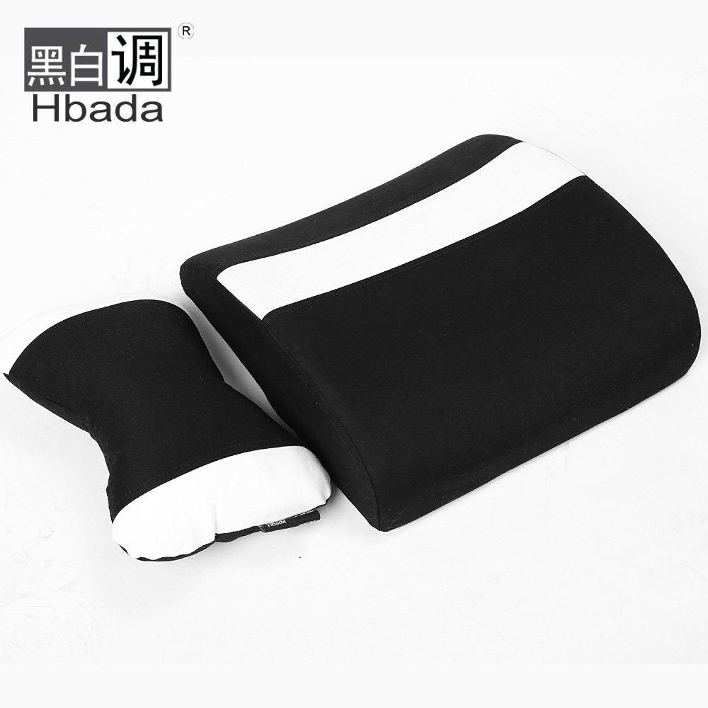 [Black and white tone] lumbar pillow washable headrest plus black and white stripes stylish minimalist design siesta nap companion