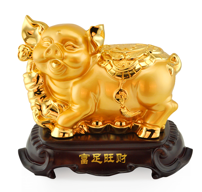 足金blessing lucky pig pig ornaments cute creative crafts home decorations tv cabinet ornaments opening gifts
