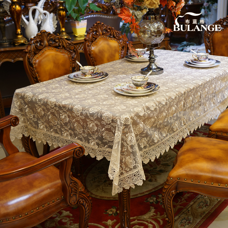 Blue dog fashion cloth fabric pastoral lace tablecloths tablecloth table cloth transparent table cloth tablecloth round coffee table cloth tablecloth