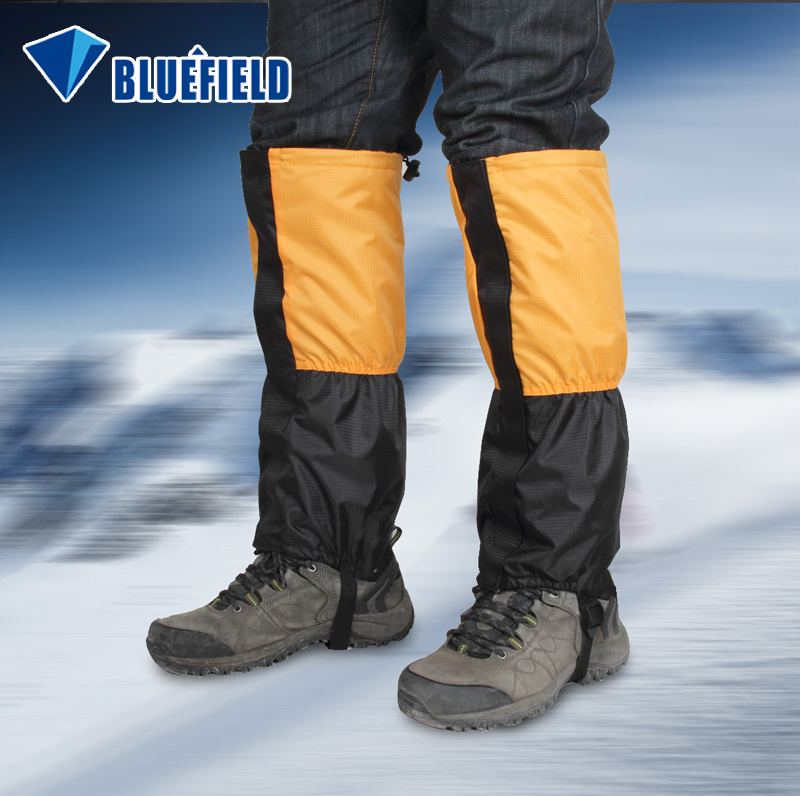 Blue field mountaineering gloves for snow cover outdoor winter thick velvet warm snow wolf