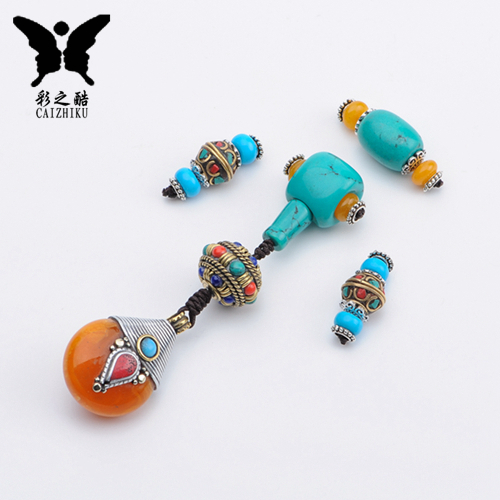 Blue turquoise tee buddha head xingyue bodhi diamond bracelets pu tizi loose beads necklace accessories kit accessories package