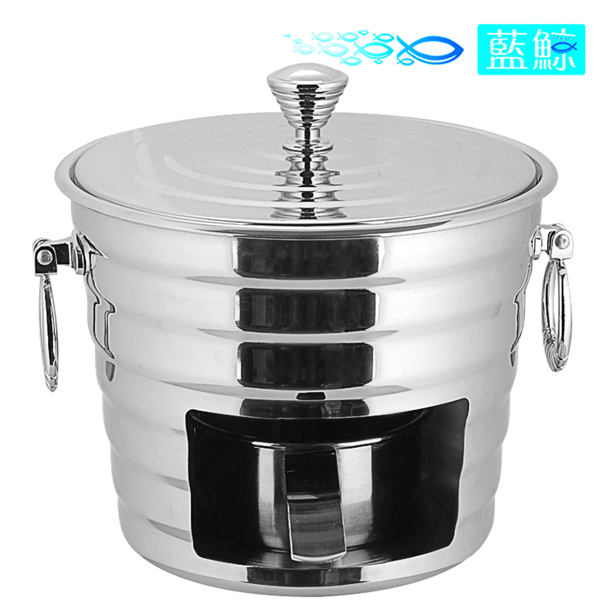 Blue whale diamond solid stainless steel liquid alcohol stove dolar beef fondue hotel buffet energy saving small pot