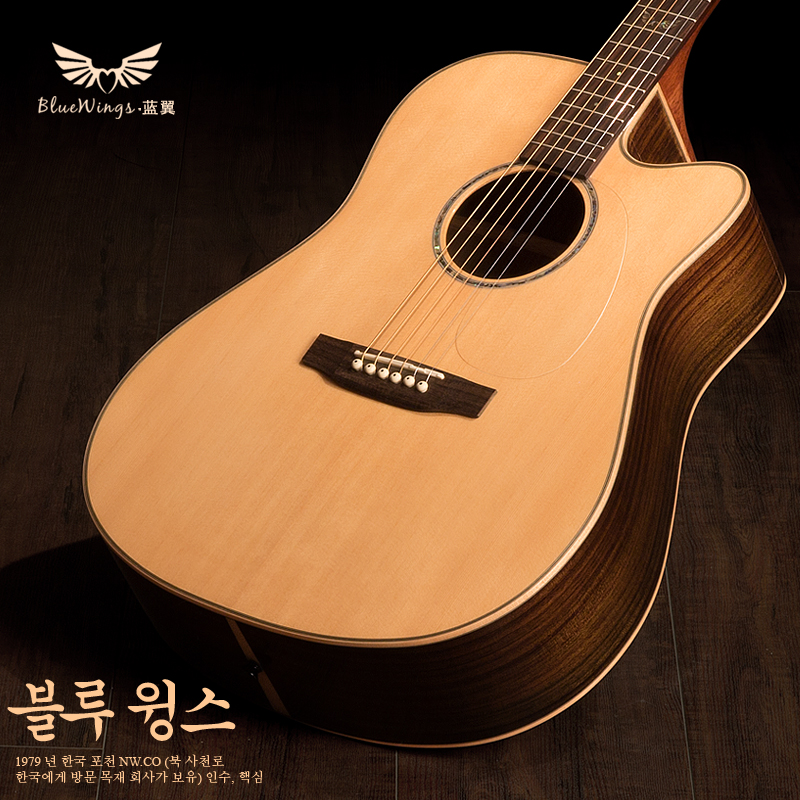 Blue wings bluewings船长veneer electric box guitar folk guitar 41 electric box guitar folk acoustic guitar