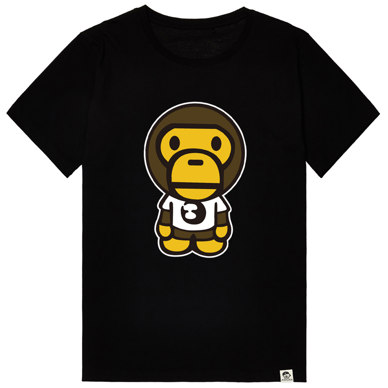 Bm-star japanese tide brand short sleeve t-shirt men fashion casual korean version of the small monkey sleeve xl clothes men
