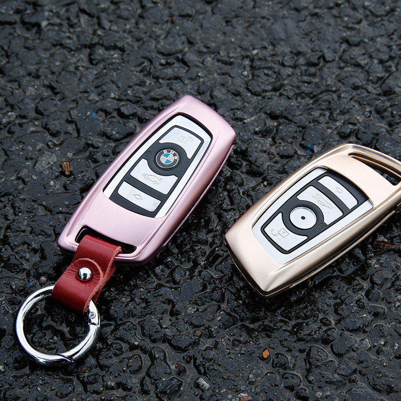 Bmw 5 series 3 series 1 series x1x3x4x5x6 key shell key cases key chains metal aluminum gold rose gold