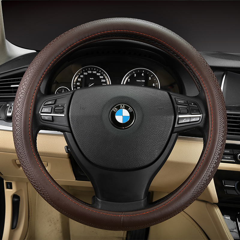 Bmw 7 series 730li 740li 750li x3 x4 x5 x6 car cowhide leather steering wheel cover to cover