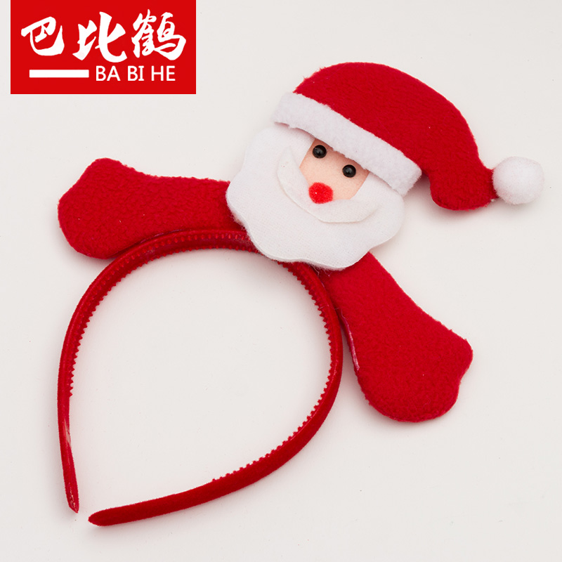 Bobby crane christmas headband hair bands hair bands cute santa claus christmas party decorations party holiday ornaments
