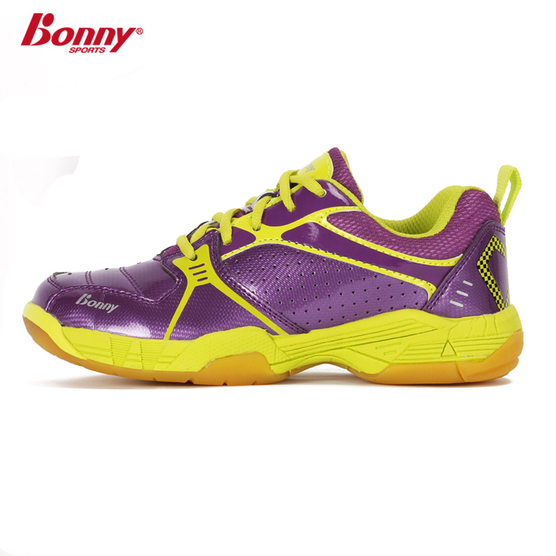 Bonny badminton shoes children sports shoes children shoes to prevent ankle velcro breathable and comfortable design