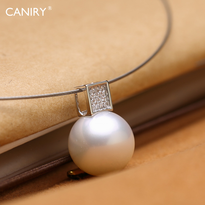 [Booking] kani rui k white gold diamond jewelry natural white south sea pearl pendant earrings set jewelry elegant boutique