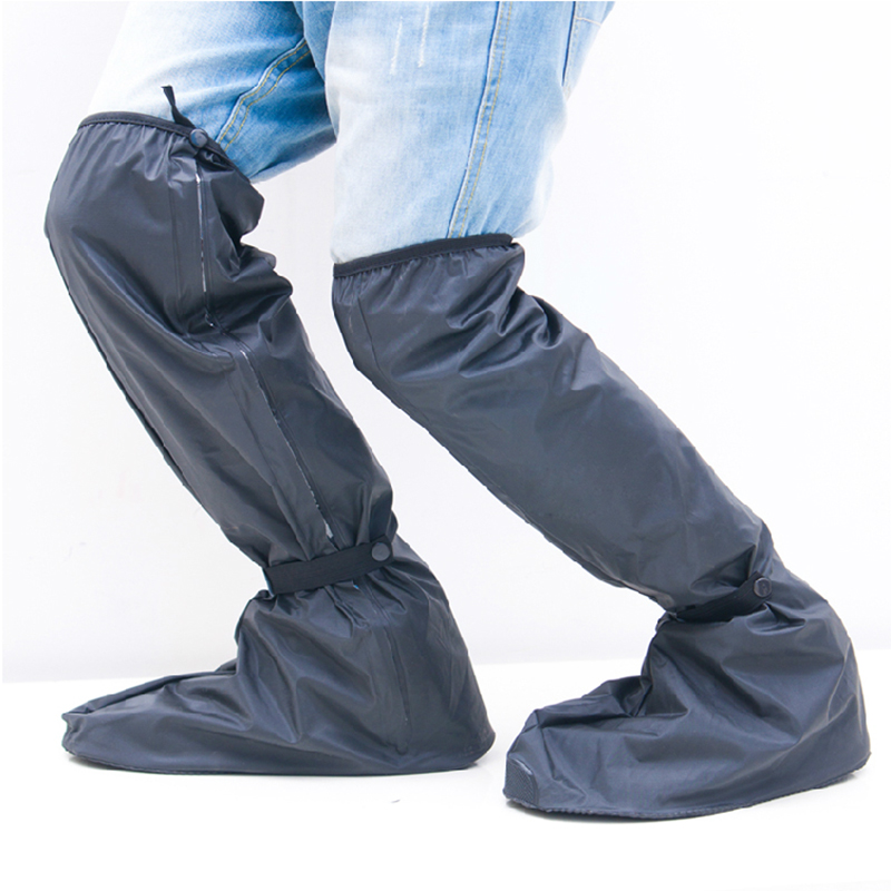 Borghese rain knee lengthened men ride a motorcycle waterproof rain shoe covers thicker skid shoe rain shoes