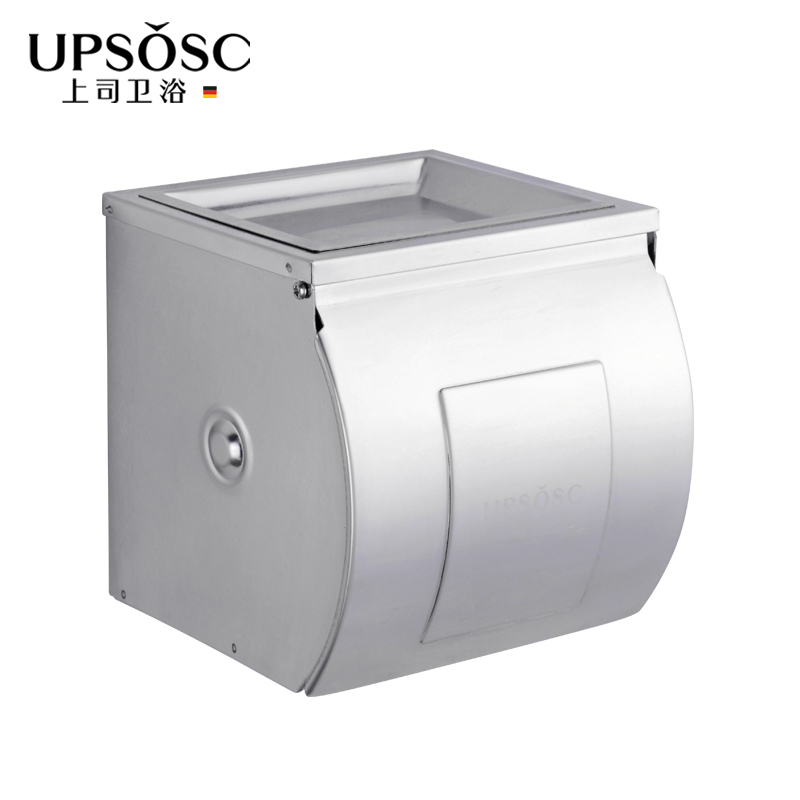 Boss sanitary stainless steel toilet paper cassette ashtray toilet paper cassette toilet tissue box waterproof toilet paper holder with ashtray