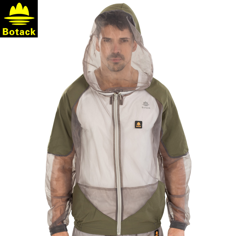 Bout mosquito fishing clothes men outdoor summer hollow hooded wicking breathable fishing clothes mosquito pest control service package
