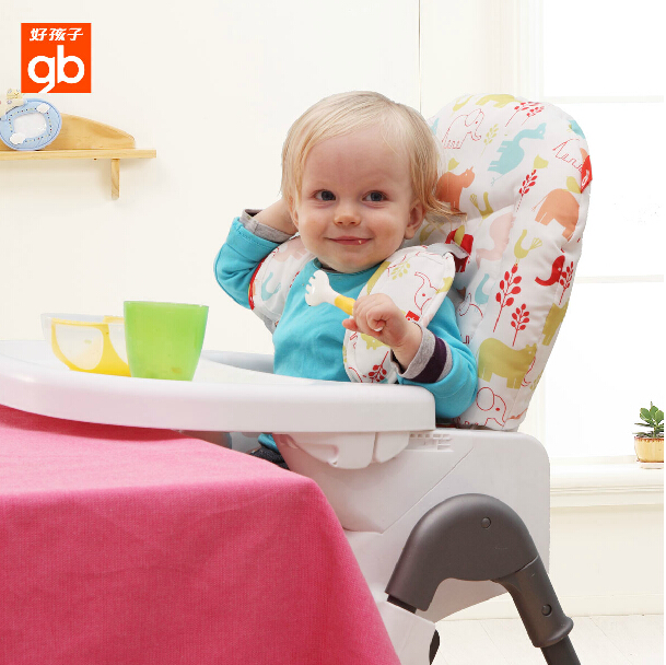 Boy child table 6 speed adjustment baby high chair baby dining chair can be folded children's high chair baby dining chair dining table