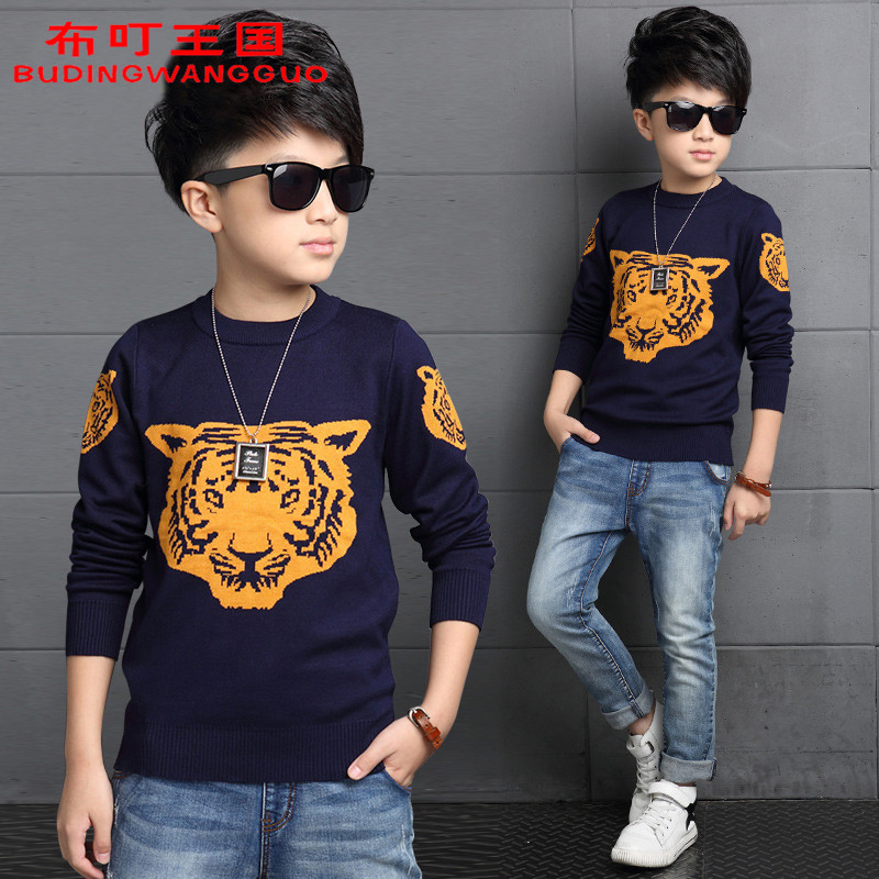 Boy sweater 2016 new children's clothing autumn 7 children 8 10 boys 12 9 spring and autumn sweater sweater 15 Years of age