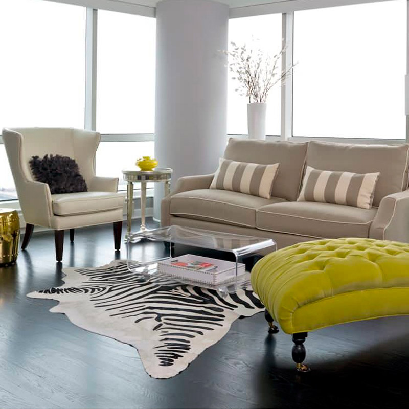 Brazilian Imports Cowhide Rugs Entire Stenciled Zebra Leather Creative  Personality Study Bedroom Carpet Carpet