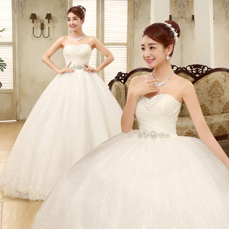 Bride wedding dress 2016 new wedding dress korean yards wipe chest wedding dress was thin qi wedding