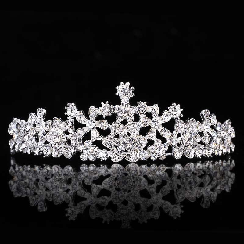 Bride wedding pearl necklace korean wedding accessories wedding tiara crown princess queen rhinestone hair accessories for children