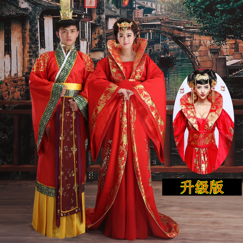 Bride wedding wedding dress wedding dress costume female han chinese clothing costume dress costume ancient generation red empress wu zetian