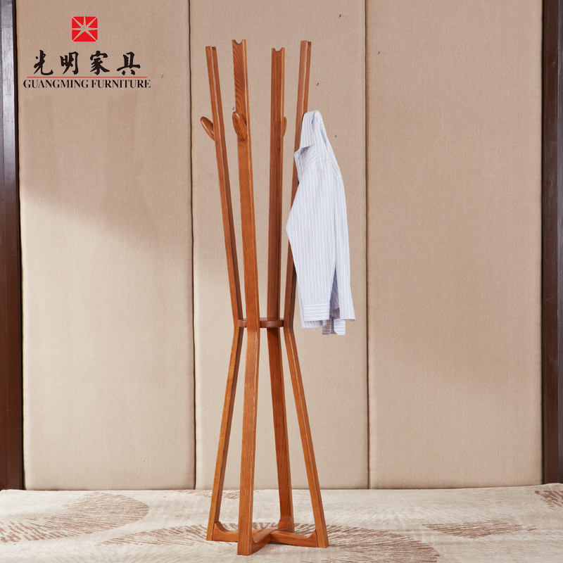 Bright furniture wood coat rack hanger simple modern creative wooden coat rack coat rack hall